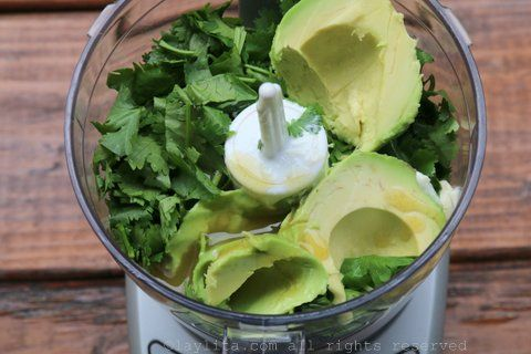 Combine the ingredients in a mini food processor or blender