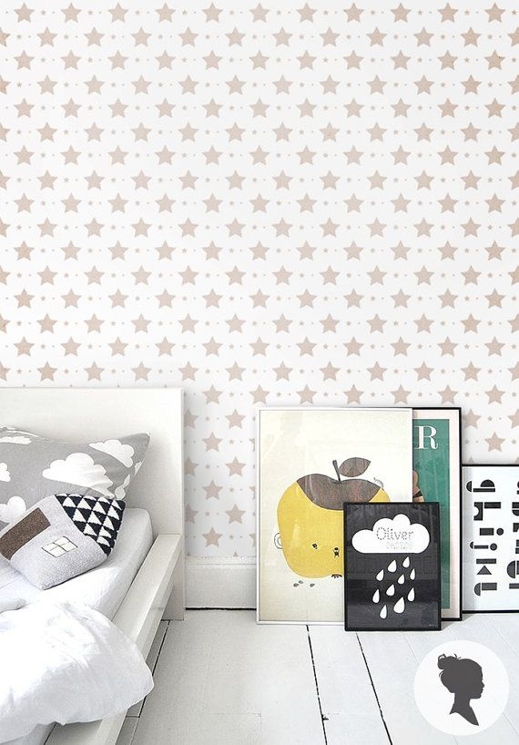 Star Pattern Self Adhesive Wallpaper D004 by Livettes on Etsy