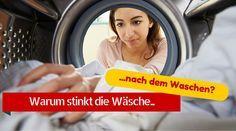 Ich habe das Problem, dass meine Waschmaschine bzw. die Wäsche stinkt, obwohl ich sie sofort rausnehme, wenn die Maschine fertig ist. Was kann ich tun?