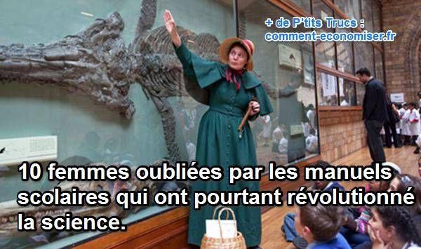 On connaît tous Marie Curie, bien sûr. Mais elle est loin d'être la seule femme scientifique !  Découvrez l'astuce ici : http://www.comment-economiser.fr/10-femmes-oubliees-qui-ont-revolutionne-les-sciences.html?utm_content=bufferd1e3b&utm_medium=social&utm_source=pinterest.com&utm_campaign=buffer