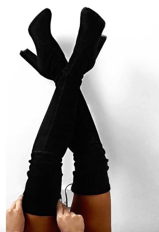 Best 25  Over knee boots ideas on Pinterest | Knee boots, Over the ...