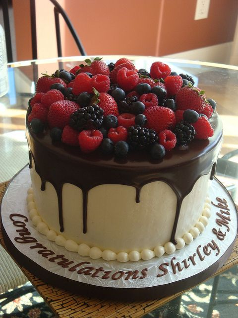 Birthday/Retirement Cake by springlakecake, via Flickr