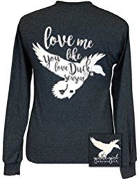 New Girlie Girl Originals Girlie Girls Love Me Like You Love Duck Season Long Sleeve T-Shirt online. Find the perfect Hayden Rose Tops-Tees from top store. Sku NUWH93544SDCJ83971