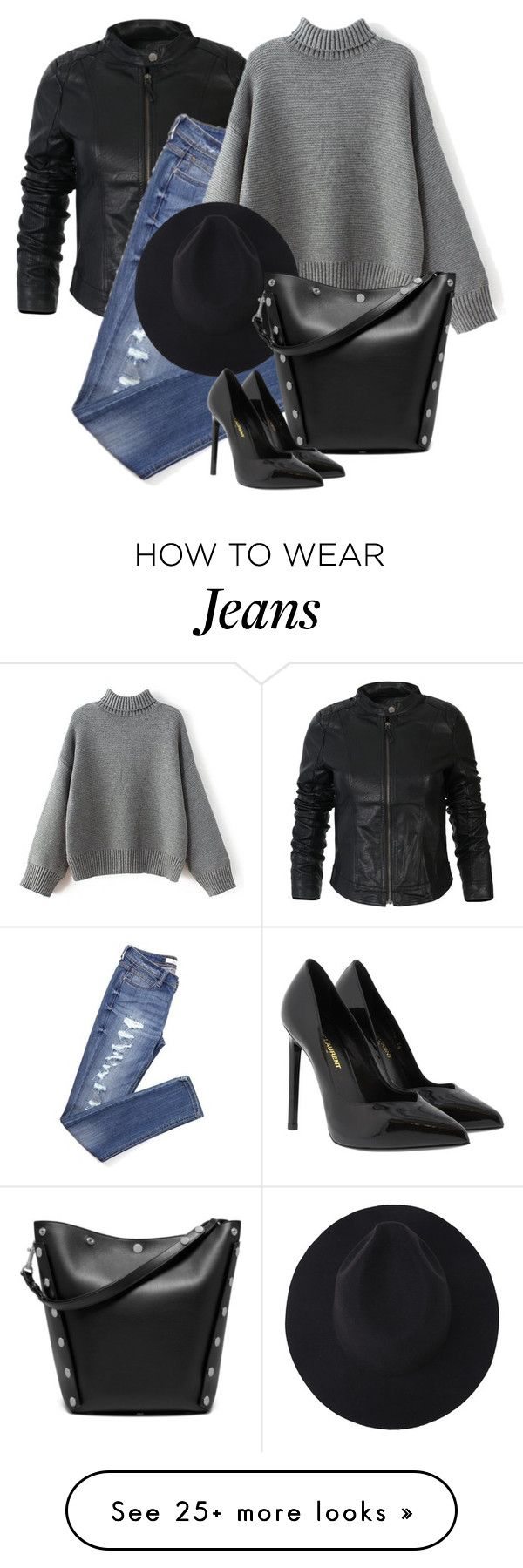 """""""Senza titolo #1475"""" by granatina on Polyvore featuring Mulberry and Yves Saint Laurent"""