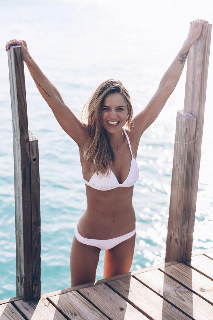 White Triangl Bikini Prosecco & Plaid