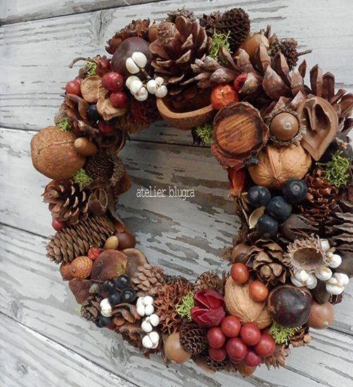 atelier blugra八ヶ岳〜(新作)静かな森の木の実Wreath001