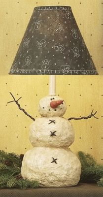 I love snowmen, A lot of my Christmas decor are snowmen. This lamp could be left of all winter!