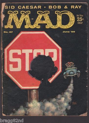 June 1959 MAD MAGAZINE #47 Sid Caesar, Alfred E. Newman ++
