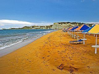 The orange sand of Xi beach, Kefalonia island ~ Greece