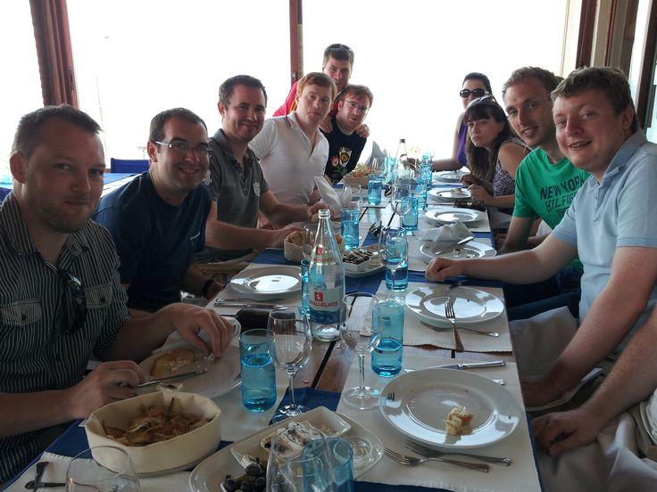 Fish lunch close to the Atlantic Coast close to Lisbon