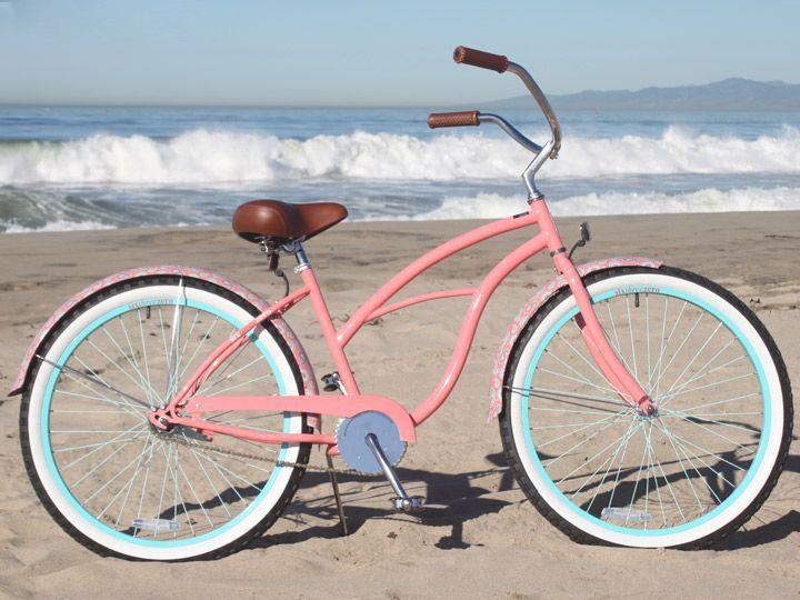 """sixthreezero Paisley Single Speed - Women's 26"""" Beach Cruiser Bike"""