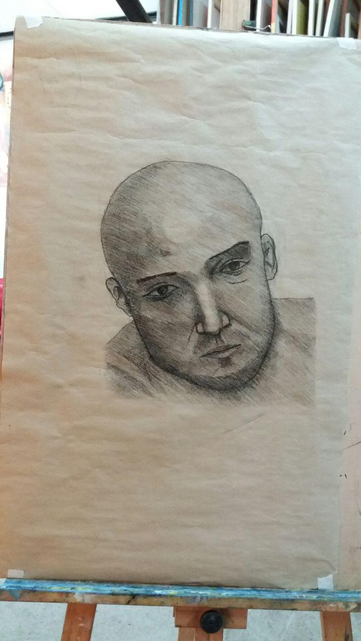 Dibujo Anatómico. Técnica de carboncillo sobre papel.