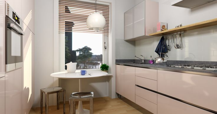 Pink kitchen, virtual image, rendered with DomuS3D and mental ray
