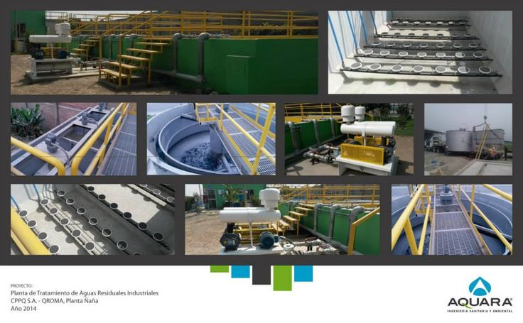 Planta de tratamiento de aguas residuales industriales.