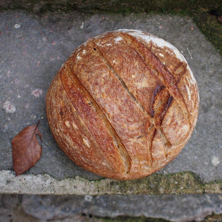 Pšeničný chleba s trochou celozrnné ovesné mouky. Vláčnost dodává střídě jablko. Chleba je hutný s hodně tvrdou a křupavou kůrk...