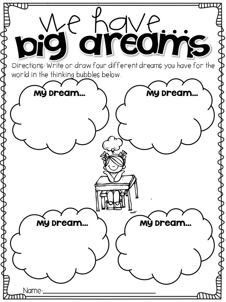 Martin luther king jr i have a dream writing activity