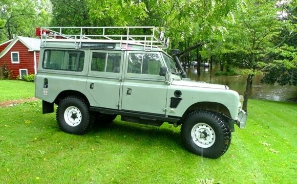 1971 Land Rover Series SII 109 Cummins Diesel Modified Expedition Vehicle For Sale Front