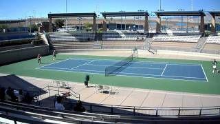 Steffi Graf & Andre Agassi Hitting at Darling Tennis Center