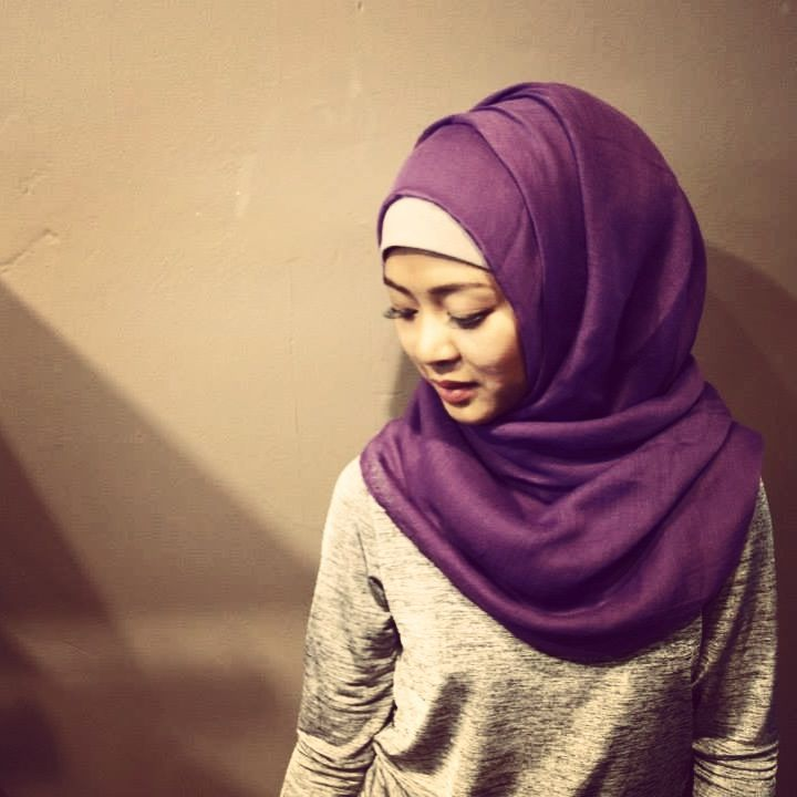 fab purple maxi hijab and light cotton amta from hijabiish | jumpsuit from sisters point