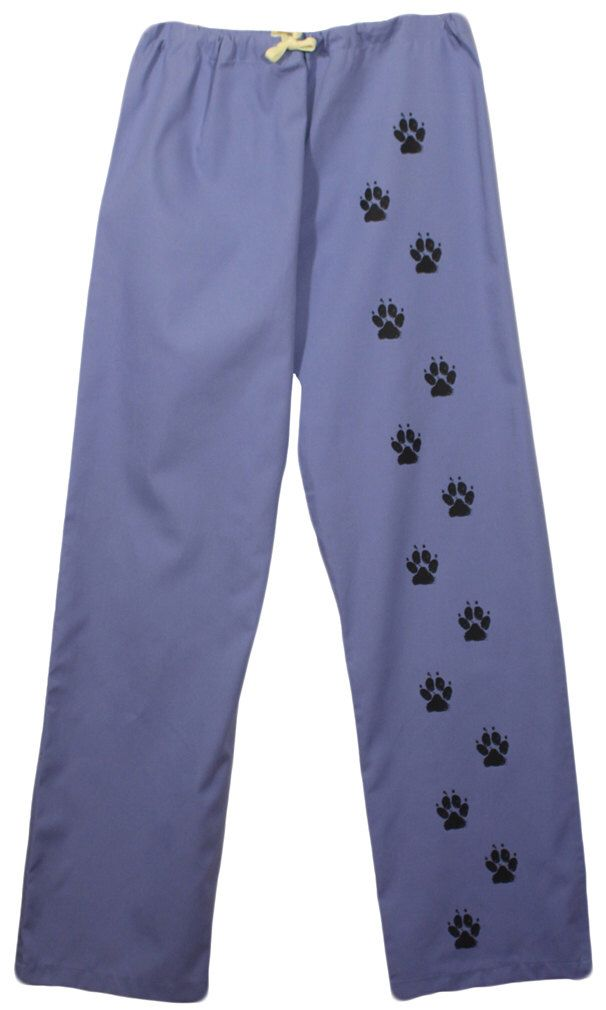 Scrub pants with dog paw prints,dog scrubs,nurse,vet tech,scrub pants paws,dog groomer,lounge wear,pajamas,vet,doctor by 1barkavenue on Etsy https://www.etsy.com/listing/234246156/scrub-pants-with-dog-paw-printsdog