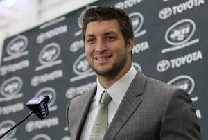 """""""Tim Tebow in New York: New Jets QB adroitly handles media crush"""" Indy Star (March 27, 2012)"""