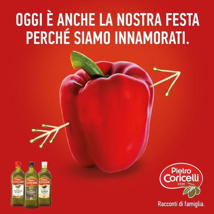 Buon San Valentino!  #pietrocoricelli #coricelli #sanvalentino #innamoratidellolio #love #food #oliveoil #olioevo