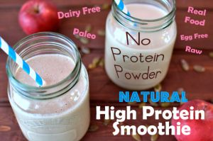 How to Make a Natural Protein Shake without Protein Powder -- click here for the recipe: http://villagegreennetwork.com/how-to-make-a-natural-protein-shake-without-protein-powder/