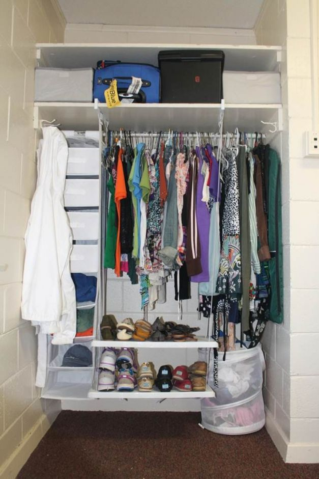 Furniture, The Smart Idea to Organize Small Closet: Organizing Small Closets In Dorm Room