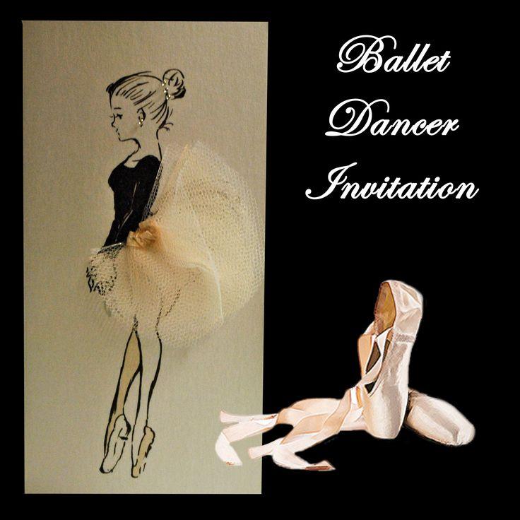 Ballet Dancer Invitation with tulle skirt