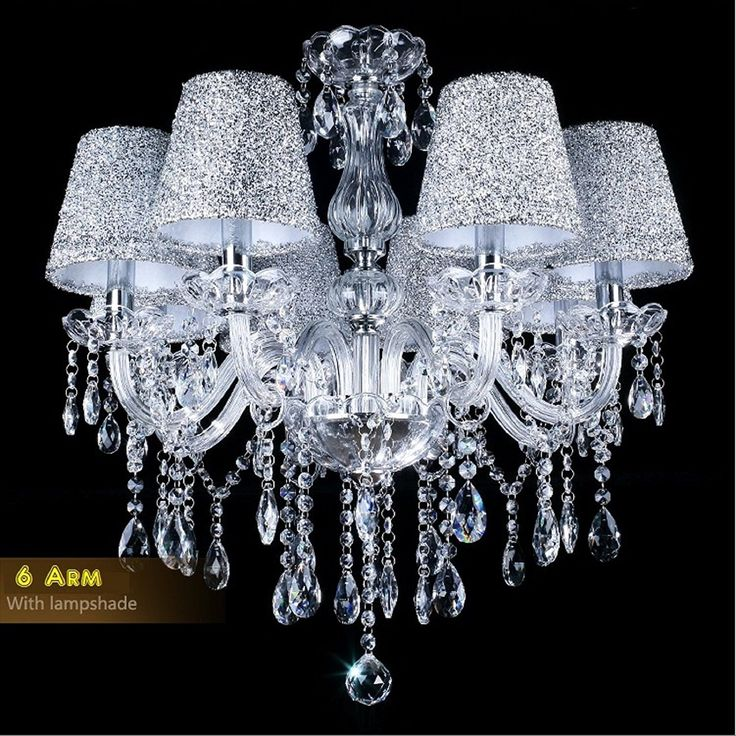 Amazon.com: TOPMAX Первоклассного хрустальной люстры освещение с абажуром E12 6 Освещения для внутренней отделки: Искусство, ремесло и шитье