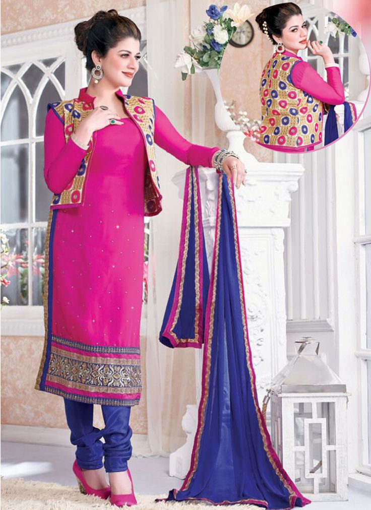 #Wholesale Pink Georgette Salwar Kameez Long Straight Salwar Collection - Buy Now @ http://www.suratwholesaleshop.com/2520AB-Brown-Party-Wear-Georgette-Straight-Salwar-Suit?view=catalog