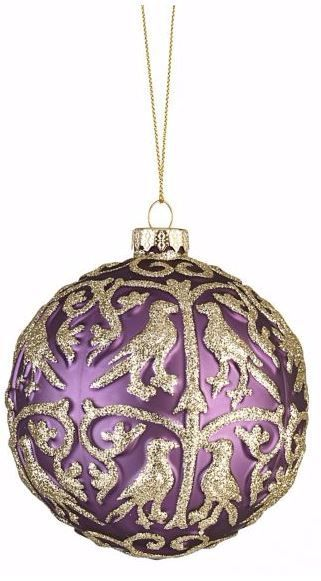 CANVAS Spiced Plum Glitter Bird Ornament adds a beautiful detail to any tree | Canadian Tire Christmas