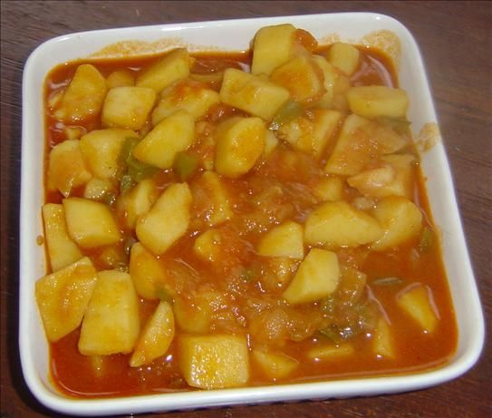 Hungarian Paprika Potatoes (Paprikas Krumpli). I usually make it with cut up European sausage, which is how my friend's mom made it. My kids love it!