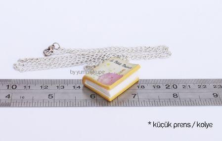 Le Petit Prince Book / Necklace Küçük Prens Kitap / Kolye  #fashion #design #miniature #food #art #miniaturefoodart #polymerclay #clay #minyatur #polimerkil #kil #nutella #tasarim #taki #sanat #moda #sokak #tutorial #yummykupe #mold #kalip #nasil #bileklik #kolye #kupe #yuzuk #aksesuar #kadin #ring #earring #accesorie #necklace #special #custom #lepetitprince #kucukprens #kucuk #prens #prince #saint #exupery