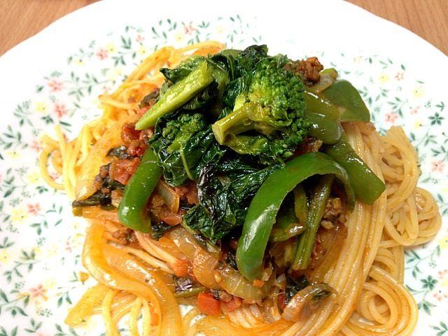 冷蔵庫のストック整理した、スッキリ! - 32件のもぐもぐ - カレー風味菜の花パスタ by konkonmarue