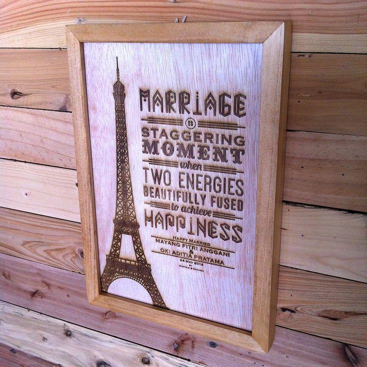 Laser Engraved Wall Decoration | 20cm x 30cm | Made by Maken Living | www.makenliving.com