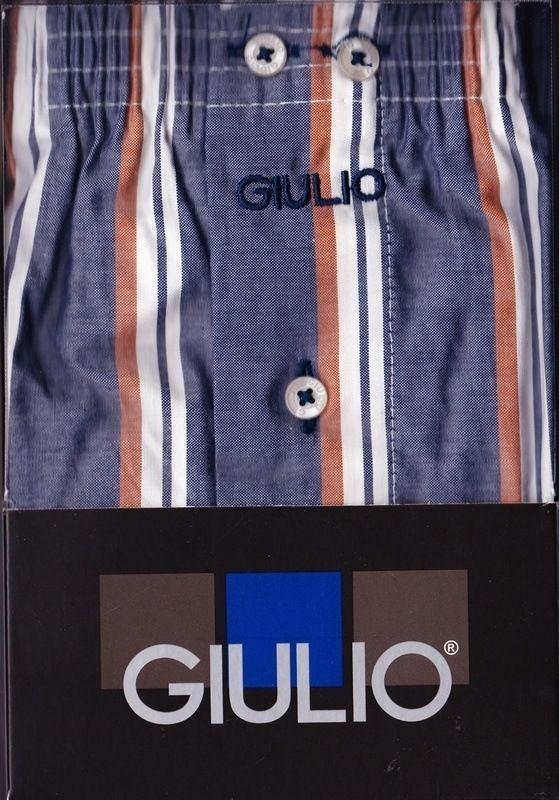 #Boxer tela giulio supertalla - Ref: 2556 C60 - Boxer de tela algodón popelín, en color azul tejano con rayas de tonos blanco y marrón.  #calzoncillos #hombre #modahombre #moda #ropainterior http://www.varelaintimo.com/marca/10/giulio
