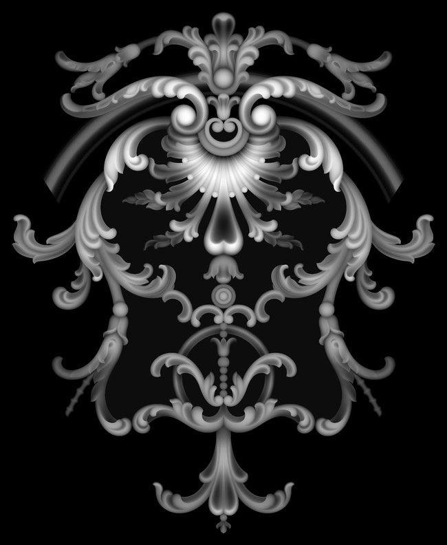 浮雕灰度图洋花模板下载_我图网
