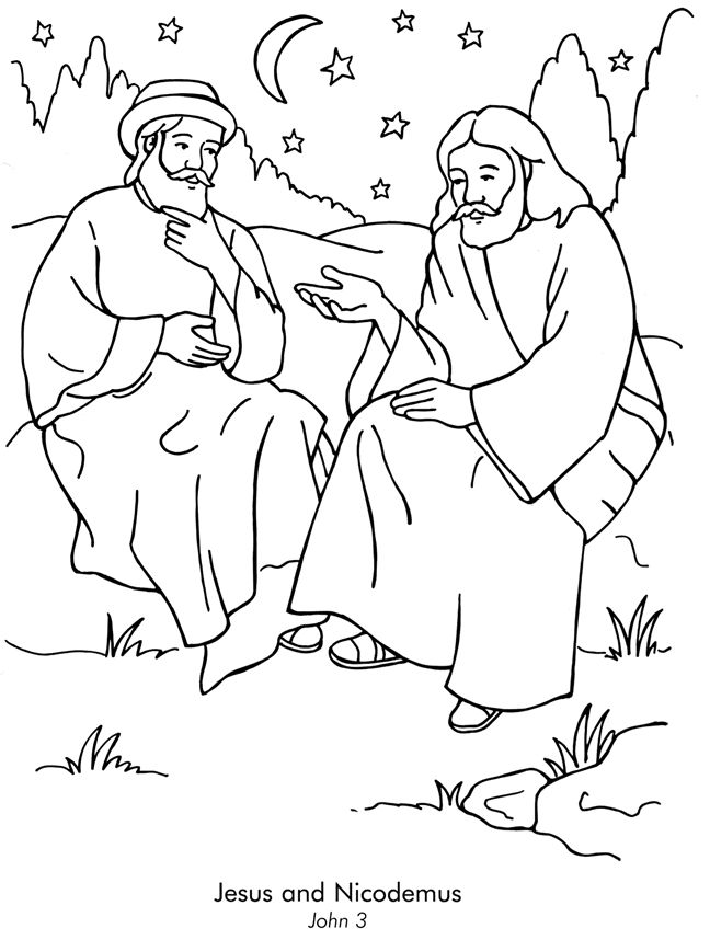 john 3 coloring pages - photo#11
