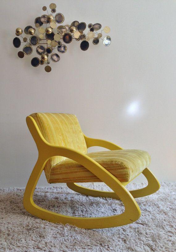 Rare Vintage Mid Century Modern Yellow Richardson Nemschoff Rocking Lounge  Chair Lawrence Peabody19 best Edward Wormley images on Pinterest   Edward wormley  . Modern Yellow Lounge Chair. Home Design Ideas