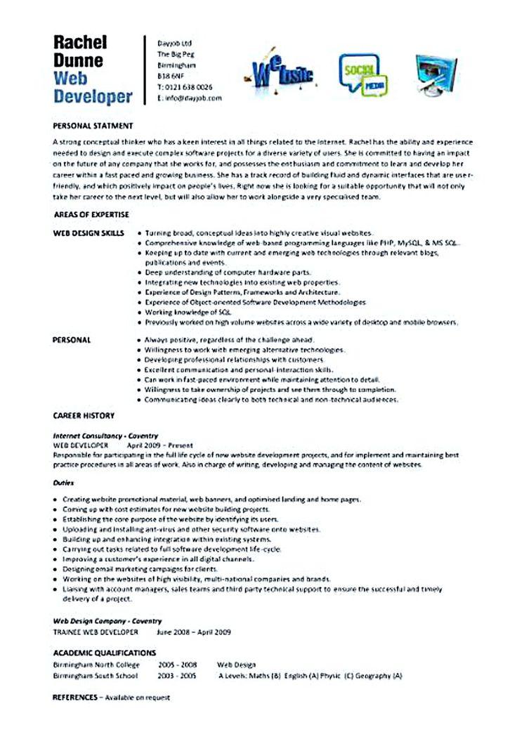 25+ belas ideias de Web developer cv no Pinterest Currículo web - web resume examples
