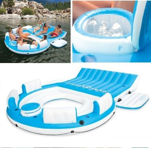 Inflatable Flaoting Iceland Swimming Pool Relaxing Station Inflatable Water Raft #Intex