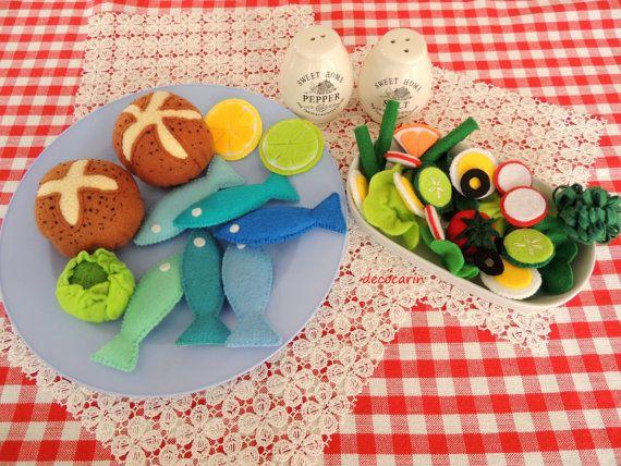 Felt Food Felt Rolls Felt Fish Felt Salad Ready Birthday