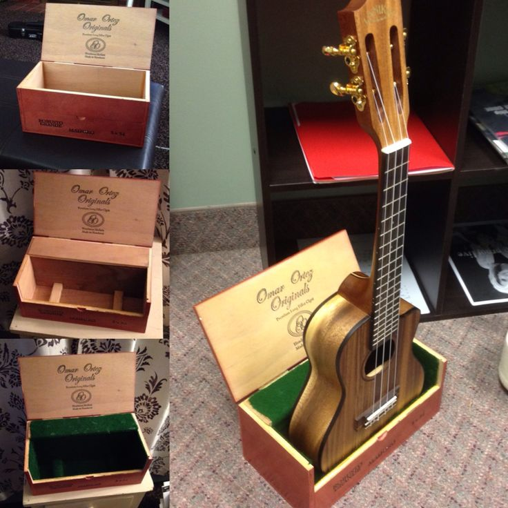 From cigar box to ukulele stand!!!