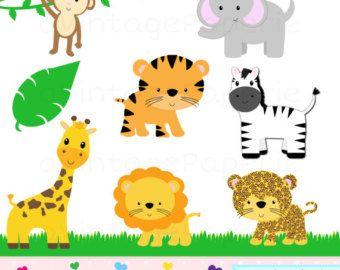 Zoo Animal Clip Art Clipart de animales de zoológico por PinkPueblo