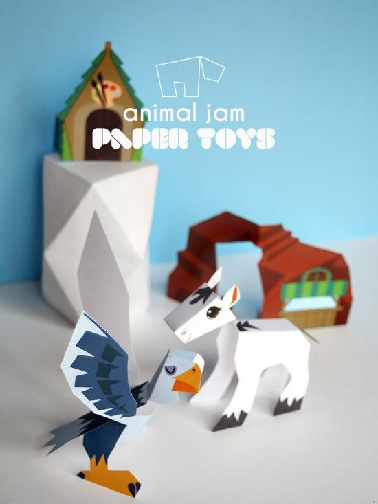 National Geographic Kids Animal jam Free printables – Coral Canyon DIY paper toys to make   Small for BIg