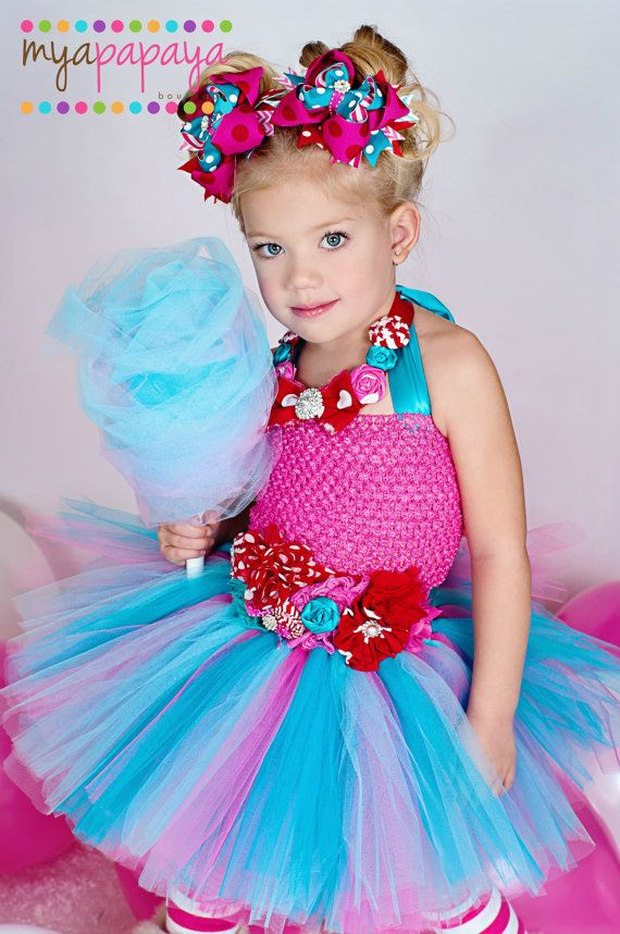 Cotton Candy Tutu Dress Set 12months-5t por MyaPapayaBoutique