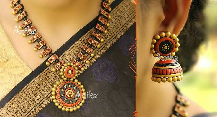 Anika terracotta jewelry                                                                                                                                                                                 More