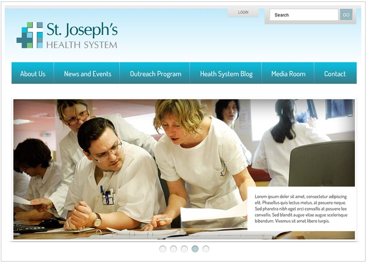 St. Joseph's Health System. Custom designed, content managed website with password protected members only sections.  Launched: Summer 2012