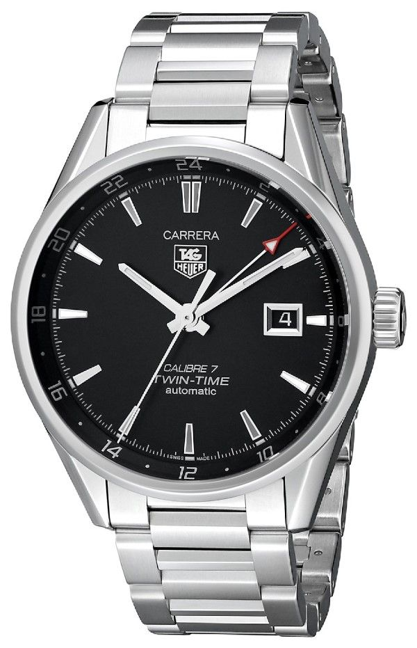 Men watches : TAG Heuer Men's WAR2010.BA0723 Carrera Analog Display Swiss Automatic Silver Watch